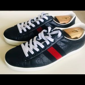 Gucci Ace Blue Leather - Size 10.5